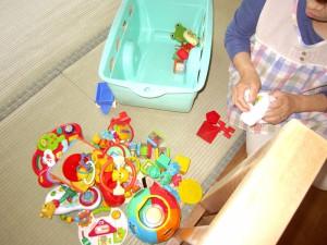 おもちゃの消毒